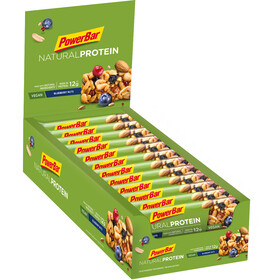 PowerBar Natural Protein Vegan - Nutrición deportiva - Blueberry Nuts 24 x 40g
